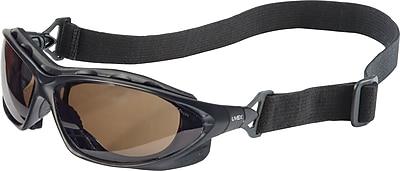 Uvex Seismic Sealed Eyewear, Anti-fog, Gray Lens, Black Frame