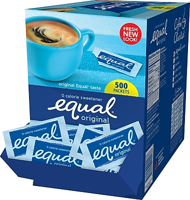 Equal® Sweetener Packets, 500/Box
