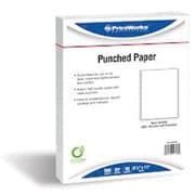 "Printworks® Professional 8 1/2"" x 11"" 20 lbs. 2 Hole Punch Top Paper, White, 2500/Case"