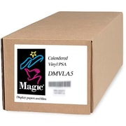 "Magiclee/Magic DMVLA5 50"" x 75' Coated Matte Pressure Sensitive Calendered Vinyl, White, Roll"