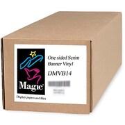 "Magiclee/Magic DMVB14 42"" x 50' Vinyl One-Sided Scrim Banner, White, Roll"