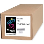 "Magiclee/Magic POS PRO+ 200 24"" x 10' 10.4 mil Matte Blockout Film, Bright White, Roll"