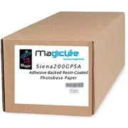 "Magiclee/Magic Siena 200G PSA 24"" x 10' Coated Gloss Microporous Photobase Paper, Bright White, Roll"