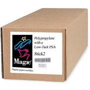 Magiclee/Magic Stick2 36' x 100' 7 mil Polypropylene Matte Banner, White, Roll