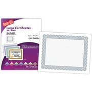 "Blanks/USA® 8 1/2"" x 11"" 60 lbs. Offset Large Certificate With Silver Border, White, 50/Pack"