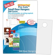 "Blanks/USA® 3.67"" x 8 1/2"" 80 lbs. Digital Smooth Cover Door Hanger, Gray, 50/Pack"