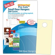 "Blanks/USA® 3.67"" x 8 1/2"" 80 lbs. Digital Smooth Cover Door Hanger, Natural, 50/Pack"