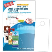 """Blanks/USA® 3.67"""" x 8 1/2"""" 80 lbs. Digital Matte Cover Door Hanger, White, 250/Pack"""