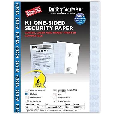 Blanks/USA® Kan't Kopy® 8 1/2