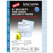 """Blanks/USA® Kan't Kopy® 8 1/2"""" x 11"""" 60 lbs. K1 Features Box Security Paper, Copy Blue, 250/Pack"""