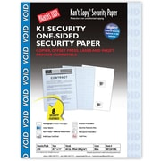 "Blanks/USA® Kan't Kopy® 8 1/2"" x 11"" 60 lbs. K1 8 Features Security Paper, Void Blue, 250/Pack"