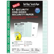 "Blanks/USA® Kan't Kopy® 8 1/2"" x 11"" 60 lbs. K1 Security Paper, Void Green, 250/Pack"