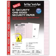 "Blanks/USA® Kan't Kopy® 8 1/2"" x 11"" 60 lbs. K1 Security Paper, Void Red, 250/Pack"