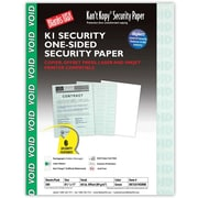 "Blanks/USA® Kan't Kopy® 8 1/2"" x 11"" 60 lbs. K1 Security Paper, Void Green, 500/Pack"