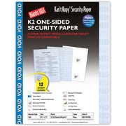 "Blanks/USA® Kan't Kopy® 8 1/2"" x 11"" 60 lbs. K2 Security Paper, Void Blue, 100/Pack"