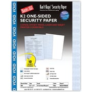 "Blanks/USA® Kan't Kopy® 8 1/2"" x 11"" 60 lbs. K2 Security Paper, Void Blue, 500/Pack"