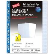 "Blanks/USA® Kan't Kopy® 8 1/2"" x 11"" 60 lbs. K1 Security Paper, Void Blue, 250/Pack"