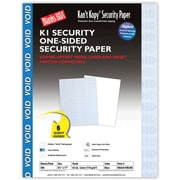 "Blanks/USA® Kan't Kopy® 8 1/2"" x 11"" 60 lbs. K1 Security Paper, Void Blue, 500/Pack"