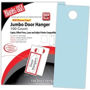 "Blanks/USA® 4 1/4"" x 11"" 67 lbs. Digital Bristol Cover Door Hanger, Blue, 50/Pack"
