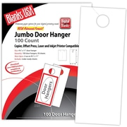 """Blanks/USA® 4 1/4"""" x 11"""" 80 lbs. Digital Smooth Cover Door Hanger, White, 50/Pack"""