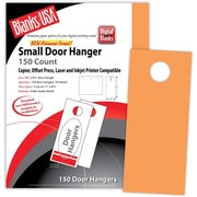 "Blanks/USA® 3.67"" x 8 1/2"" 65 lbs. Digital Timberline Cover Door Hanger, Hunter's Orange, 50/Pack"