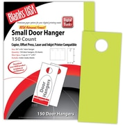 "Blanks/USA® 3.67"" x 8 1/2"" 65 lbs. Digital Timberline Cover Door Hanger, Spring Green, 50/Pack"