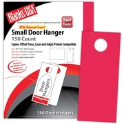 "Blanks/USA® 3.67"" x 8 1/2"" 65 lbs. Digital Timberline Cover Door Hanger, Sumac Red, 50/Pack"