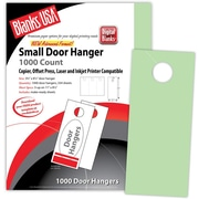 "Blanks/USA® 3.67"" x 8 1/2"" 67 lbs. Digital Bristol Cover Door Hanger, Green, 334/Pack"