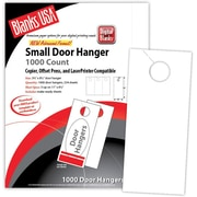 "Blanks/USA® 3.67"" x 8 1/2"" 80 lbs. Digital Gloss Cover Door Hanger, White, 334/Pack"