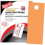 "Blanks/USA® 4 1/4"" x 11"" 65 lbs. Digital Timberline Cover Door Hanger, Hunter's Orange, 250/Pack"