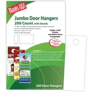 "Blanks/USA® 4 1/8"" x 11"" 80 lbs. Digital Matte Cover Door Hanger, White, 50/Pack"