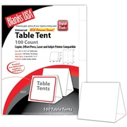 "Blanks/USA® 4 1/4"" x 4"" 90 lbs. Table Tent, White, 100/Pack"