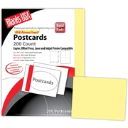 "Blanks/USA® 5 1/2"" x 4 1/4"" 67 lbs. Bristol Digital Postcard, Canary, 50/Pack"