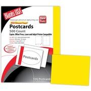"Blanks/USA® 5 1/2"" x 4 1/4"" 65 lbs. Timberline Digital Postcard, Sunfish Yellow, 125/Pack"