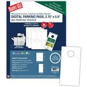 "Blanks/USA® 2 3/4"" x 5 1/2"" Digital Parking Pass, White, 100/Pack"