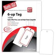 "Blanks/USA® 2.84"" x 5 1/4"" Digital Printable Tag, White, 167/Pack"