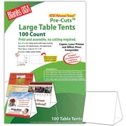 "Blanks/USA® 6"" x 3 3/8"" x 5 5/8"" 80 lbs. Digital Table Tent, White, 100/Pack"