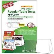 """Blanks/USA® 4"""" x 3 3/8"""" x 5 5/8"""" 80 lbs. Digital Table Tent, White, 750/Pack"""