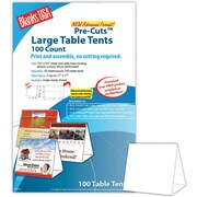 "Blanks/USA® 5 1/2"" x 3 1/8"" x 5 3/8"" 80 lbs. Digital Table Tent, White, 100/Pack"