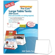 "Blanks/USA® 5 1/2"" x 3 1/8"" x 5 3/8"" 80 lbs. Digital Table Tent, White, 500/Pack"