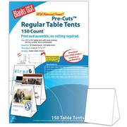 "Blanks/USA® 3.67"" x 3 1/8"" x 5 3/8"" 80 lbs. Digital Table Tent, White, 150/Pack"
