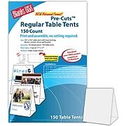 "Blanks/USA® 3.67"" x 3 1/8"" x 5 3/8"" 80 lbs. Table Tent, Gray, 150/Pack"