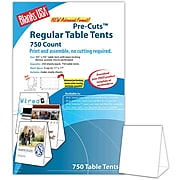 """Blanks/USA® 3.67"""" x 3 1/8"""" x 5 3/8"""" 80 lbs. Digital Table Tent, White, 750/Pack"""