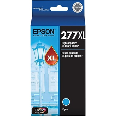 Epson 277XL (T277XL220) Cyan Ink Cartridge, High-Capacity