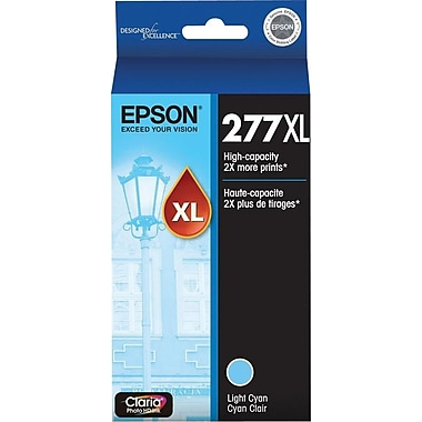 Epson 277XL (T277XL520) Light Cyan Ink Cartridge, High-Capacity