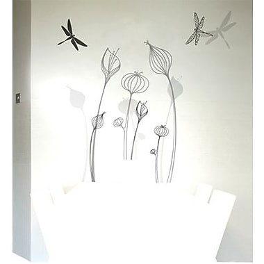 RoomMates Mia & Co Talamanca Peel and Stick Transfer Wall Decal, Gray