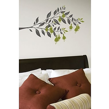 RoomMates Mia & Co Fushia Peel and Stick Transfer Wall Decal, Dark Gray/Green