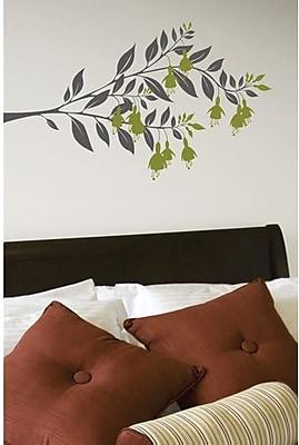 RoomMates Mia & Co Fushia Peel and Stick Transfer Wall Decal, Dark Gray/Green