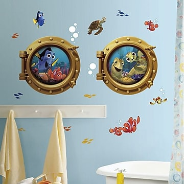RoomMates Finding Nemo Peel and Stick Giant Wall Decal,Size: large