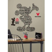 RoomMates Typographic Mickey Mouse Peel and Stick Giant Wall Decal